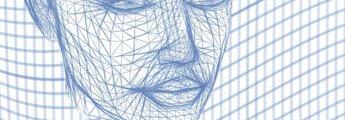 Virtuelles Gesicht als Gitternetz