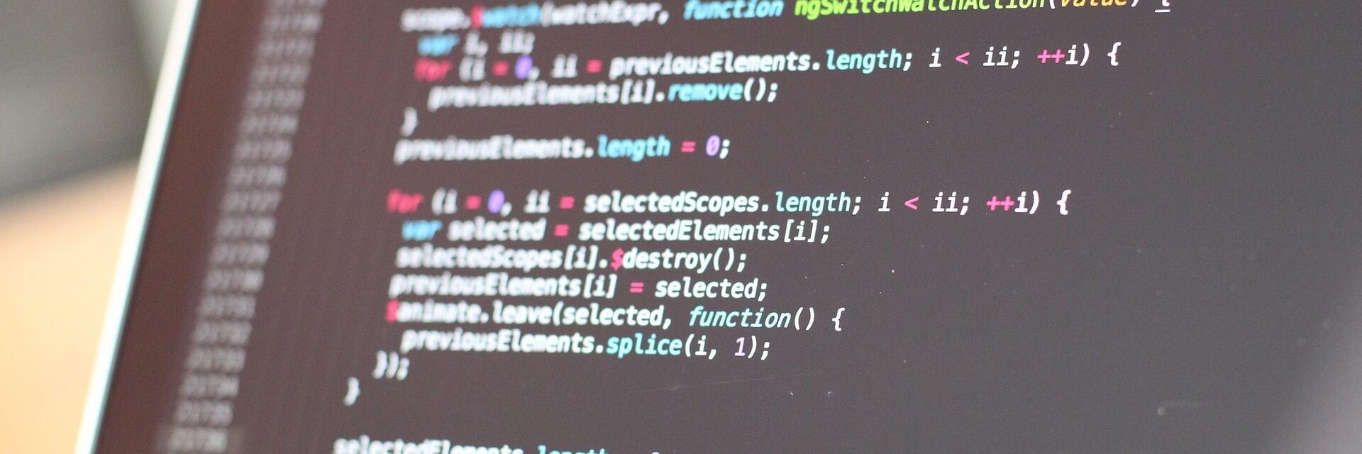 Bildschirm mit Computerprogramm