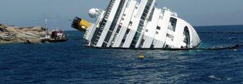 Gekentertes Schiff Concordia