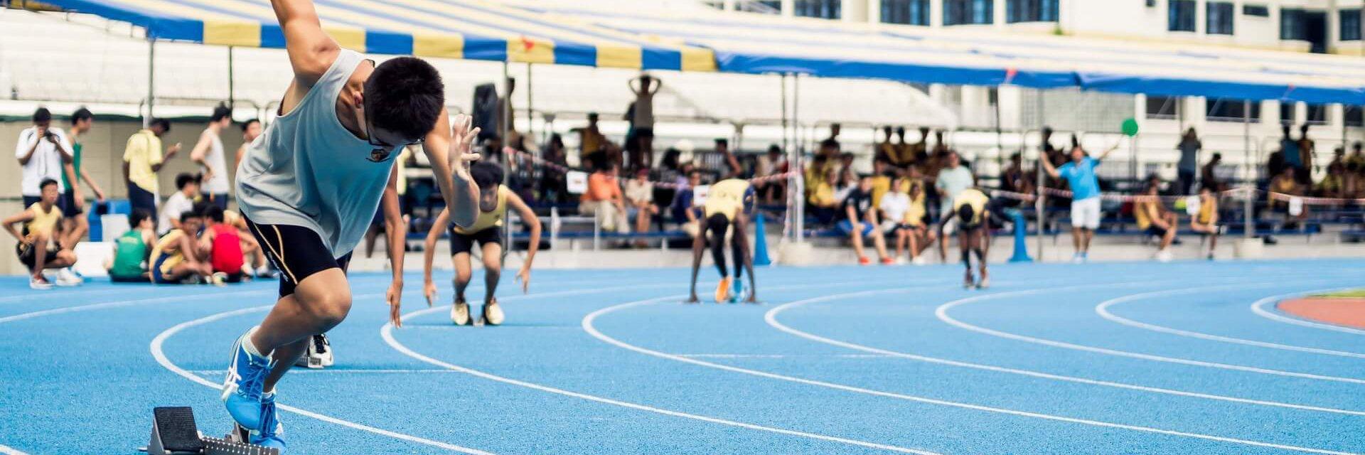 Sprinter am Start